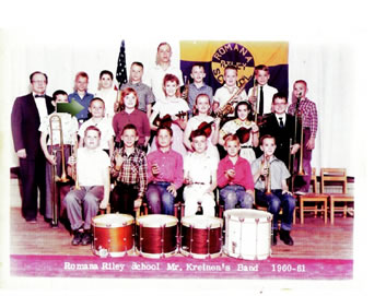 photo of Jack in school band 1960
